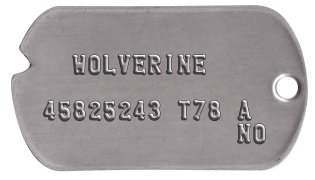 Wolverine Classic Dog Tag Set    WOLVERINE  45825243 T78 A              NO