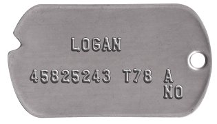Wolverine Classic Dog Tag Set      LOGAN  45825243 T78 A              NO