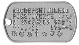 Dogtag showing all available characters