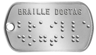 Braille Dogtags