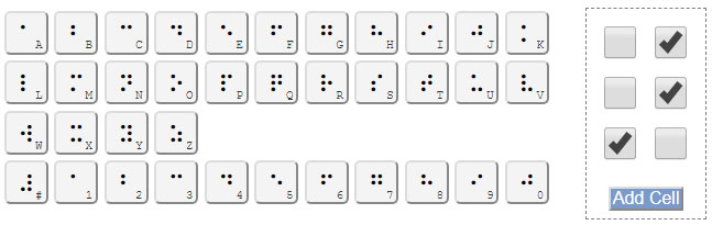 Braille Character Generator Keypad