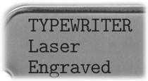Typewriter Laser Engraved