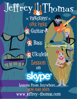 Free Guitar & Ukelele Lessons over Skype